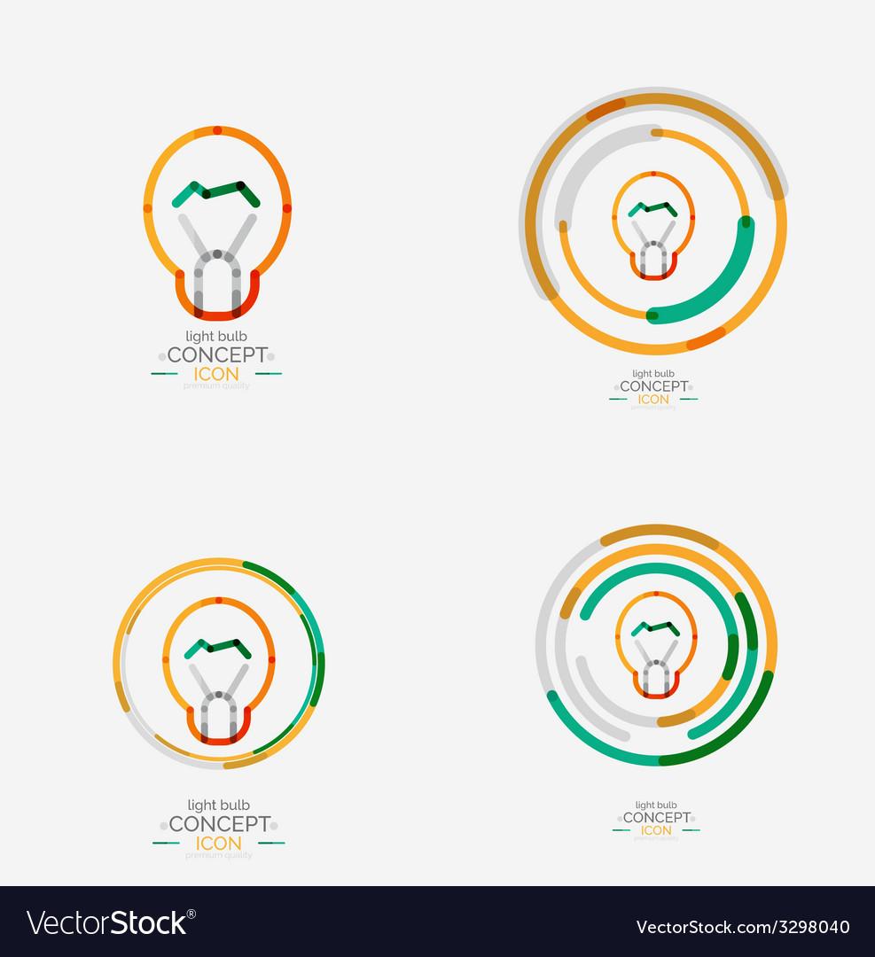 Light bulb minimal design logo vector   Price: 1 Credit (USD $1)