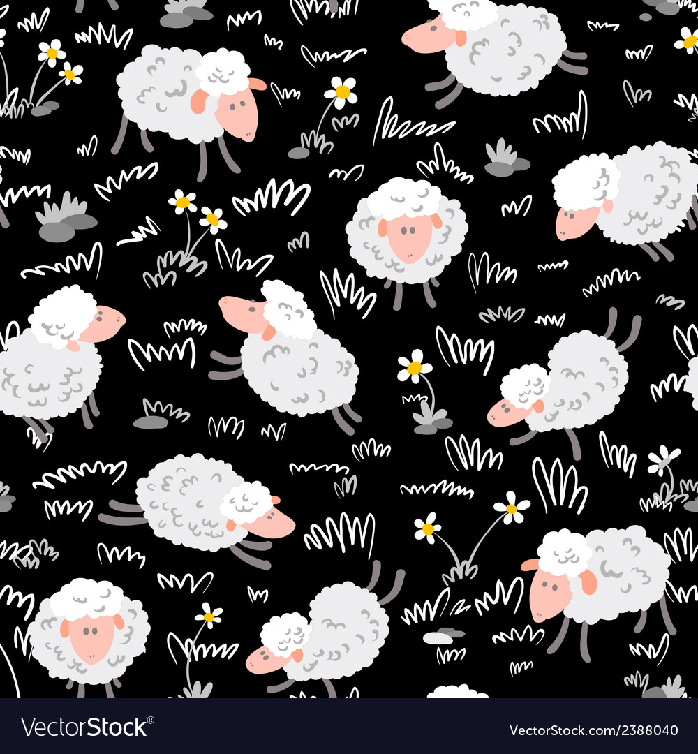 Pattern with sheep vector | Price: 1 Credit (USD $1)