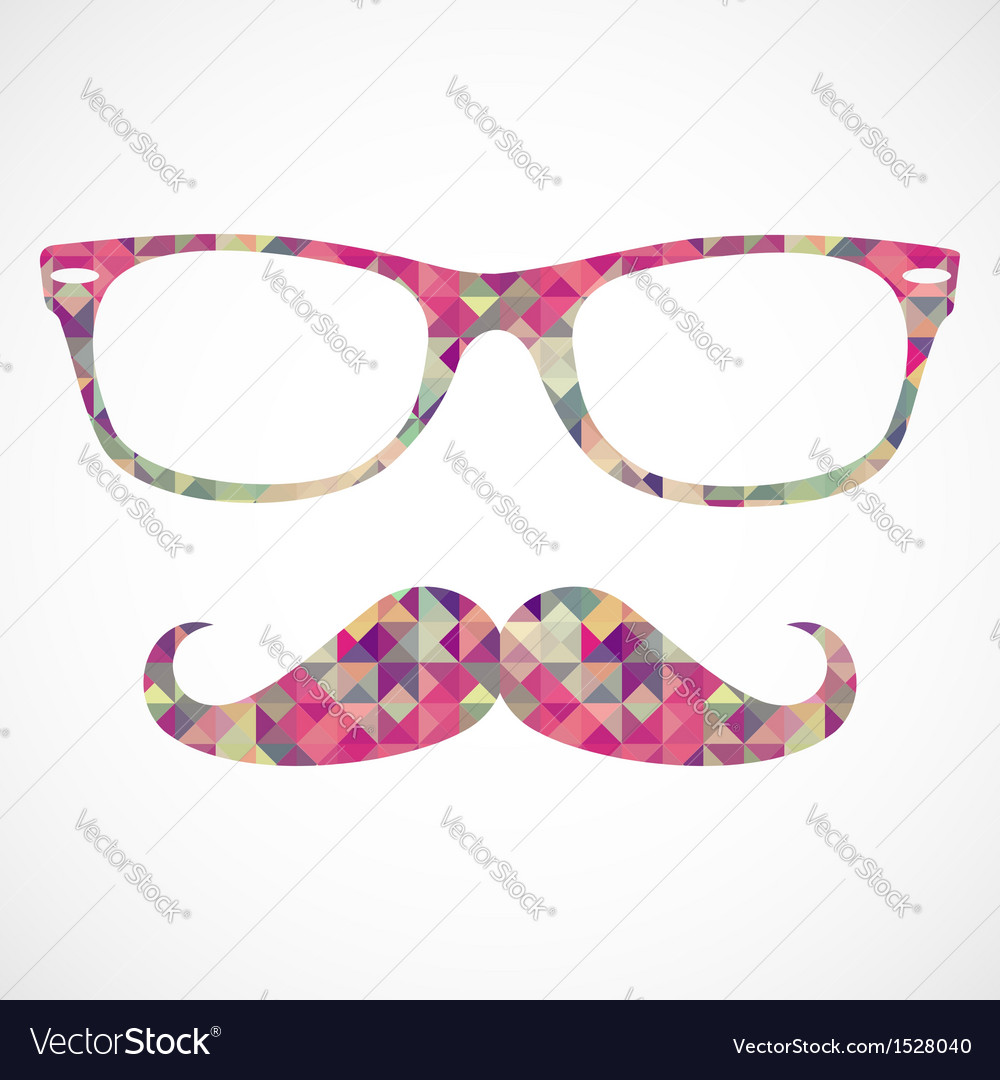 Retro hipster face geometric icons vector | Price: 1 Credit (USD $1)