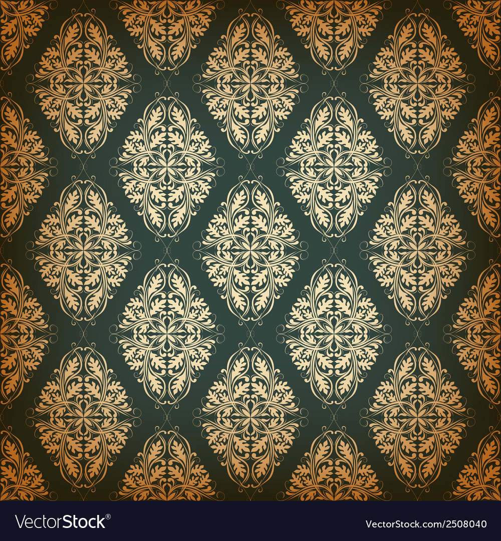 Seamless pattern with damask elements vector | Price: 1 Credit (USD $1)