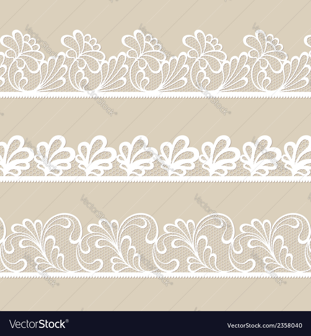 Set of lace borders vector | Price: 1 Credit (USD $1)
