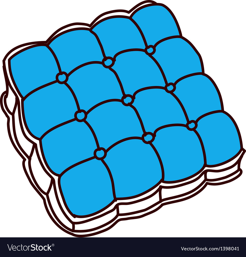 A sitting cushion vector | Price: 1 Credit (USD $1)