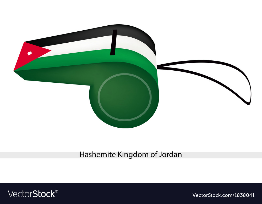 A whistle of hashemite kingdom of jordan vector | Price: 1 Credit (USD $1)
