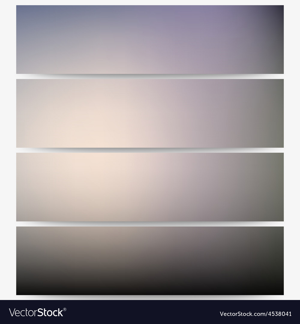 Abstract unfocused natural headers set blurred vector | Price: 1 Credit (USD $1)