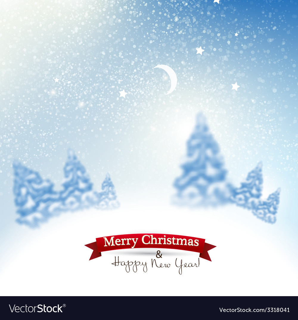 Beautiful christmas background with blurred vector   Price: 3 Credit (USD $3)