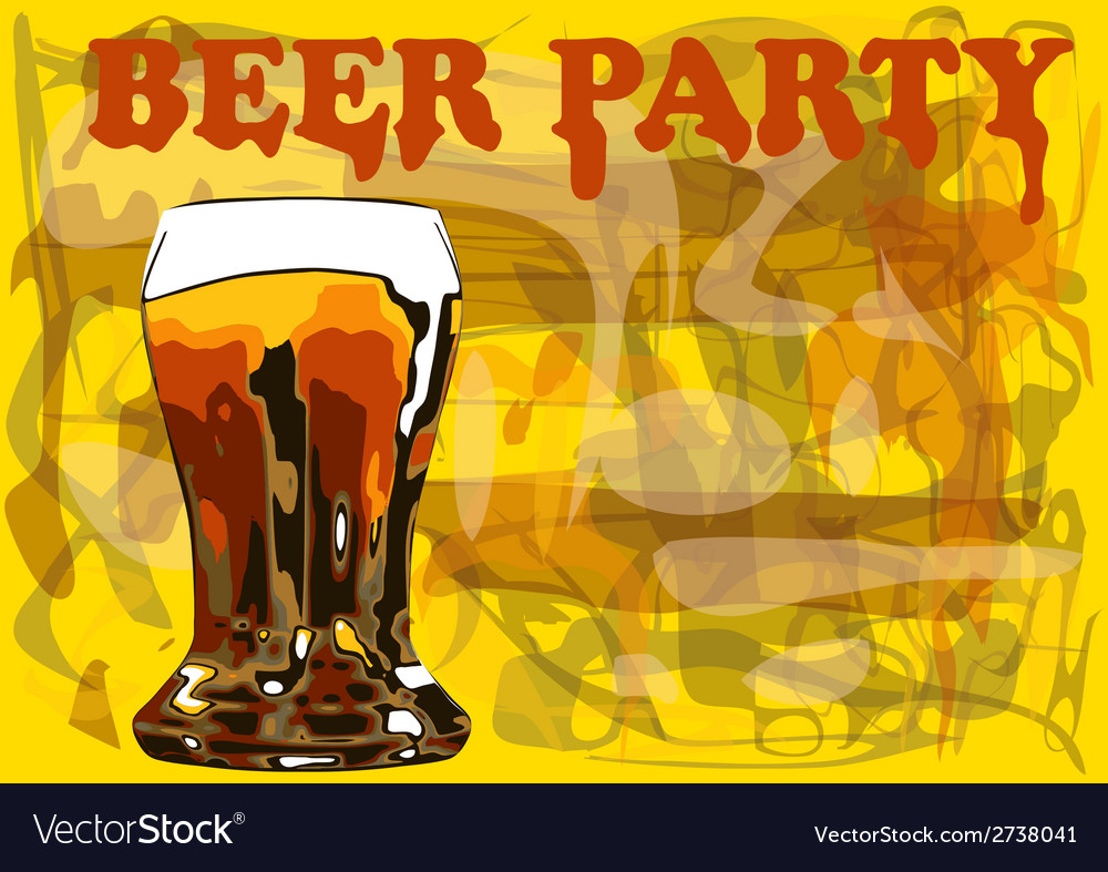 Beer party vector | Price: 1 Credit (USD $1)