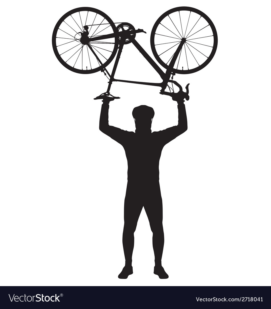 Bicycle above my head vector | Price: 1 Credit (USD $1)