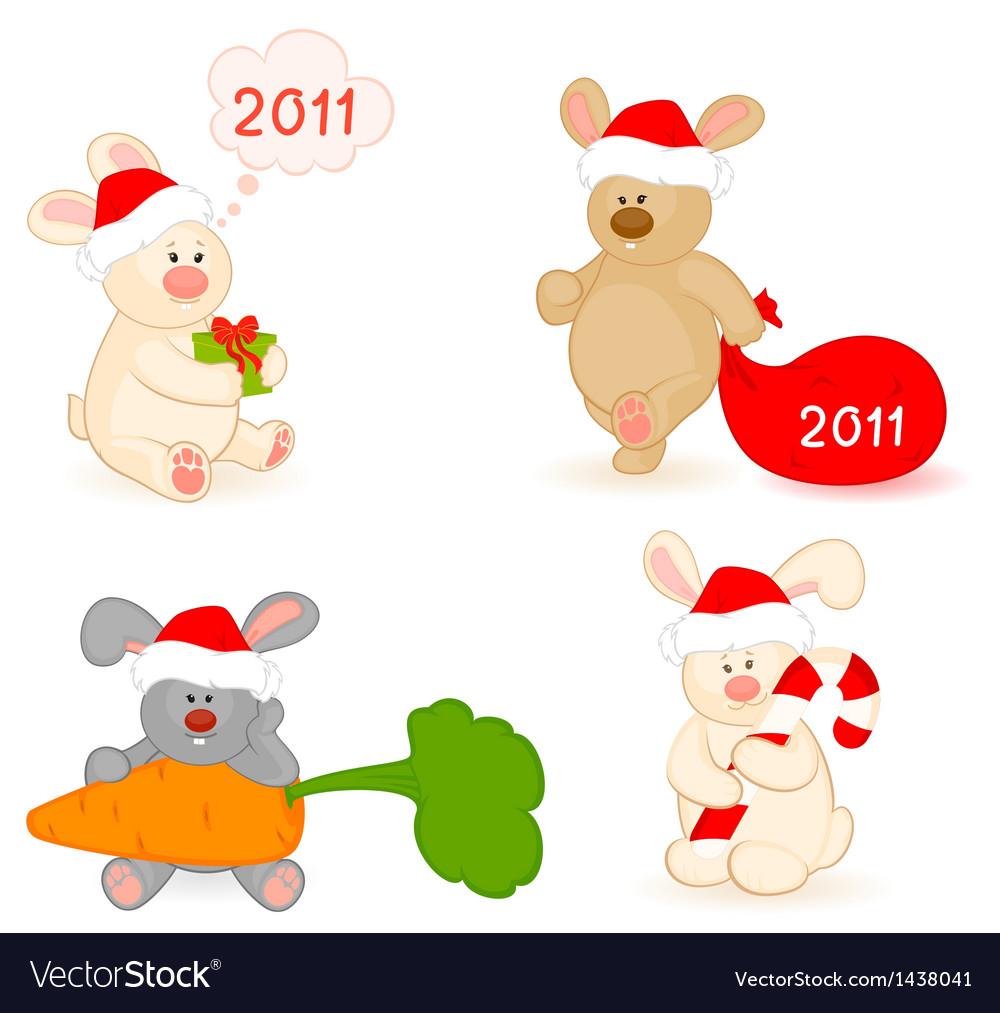 Christmas bear vector | Price: 1 Credit (USD $1)