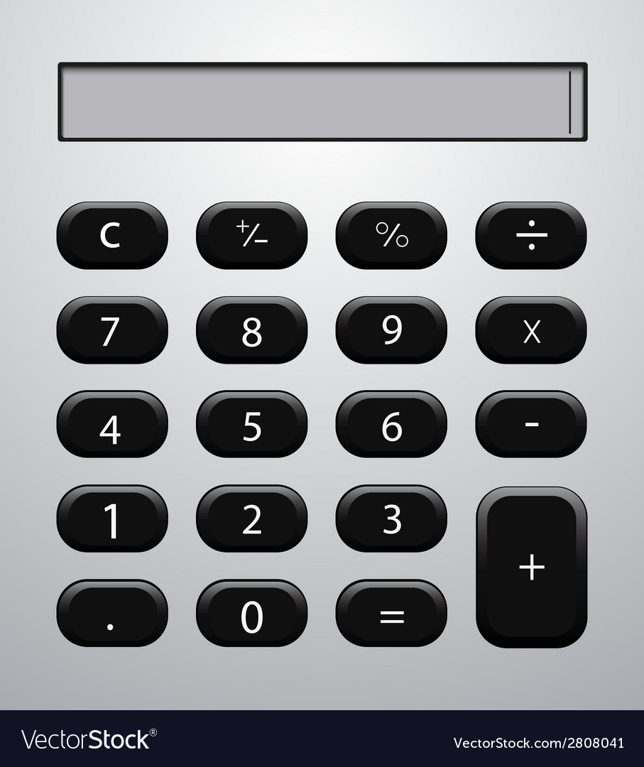 Concept modern calculator background vector | Price: 1 Credit (USD $1)