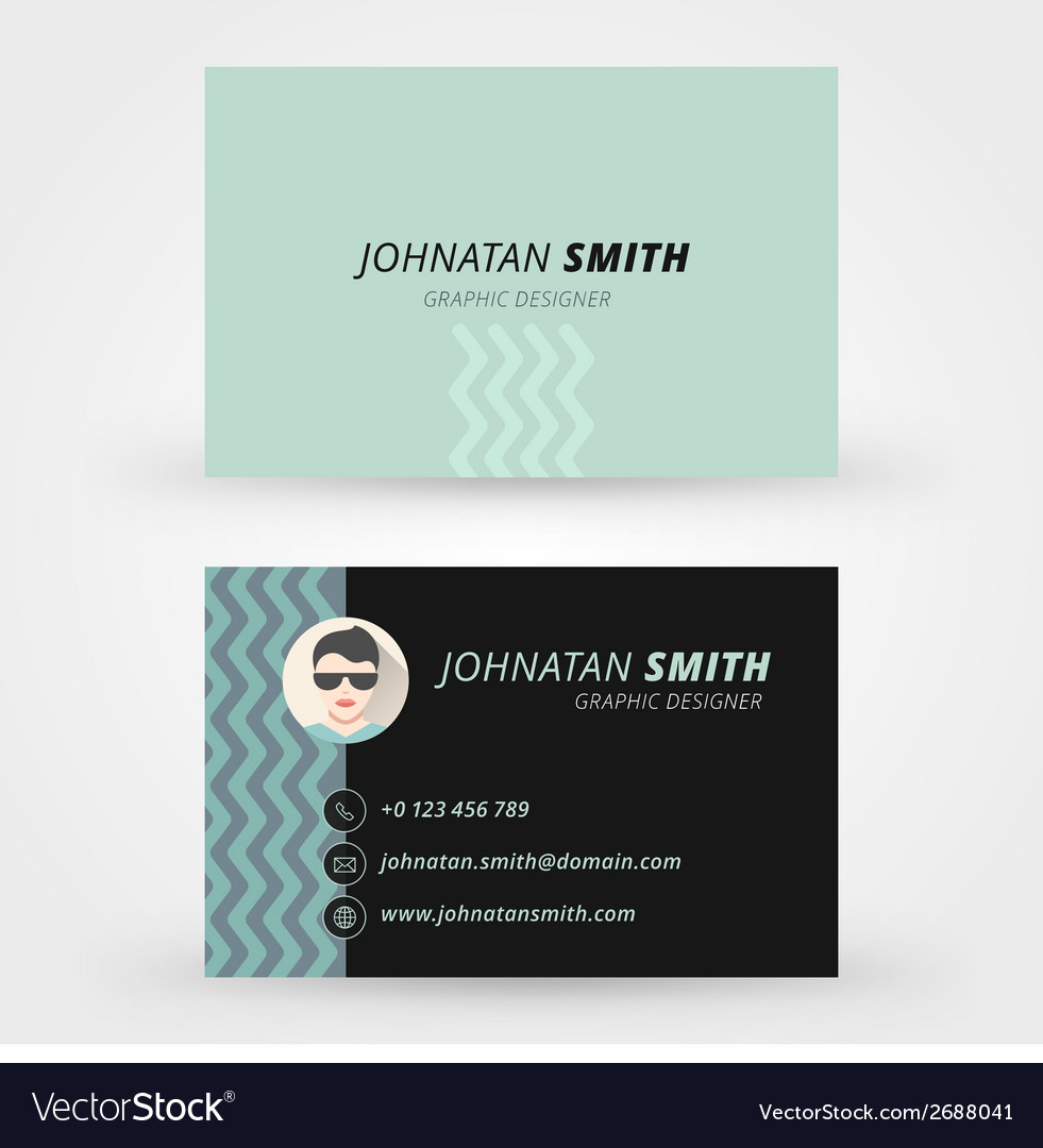 Creative business card design print template vector   Price: 1 Credit (USD $1)