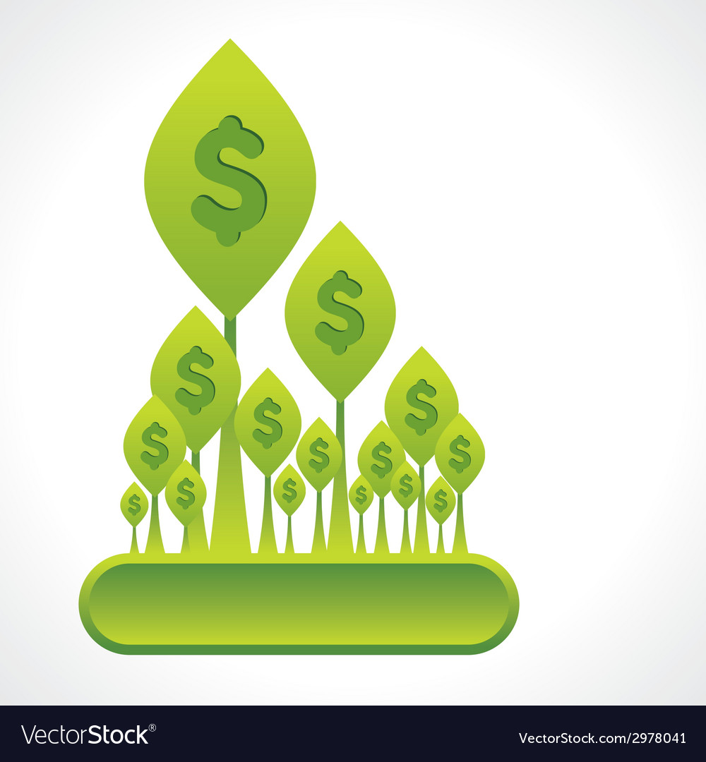 Creative money plant or dollar forest background vector | Price: 1 Credit (USD $1)