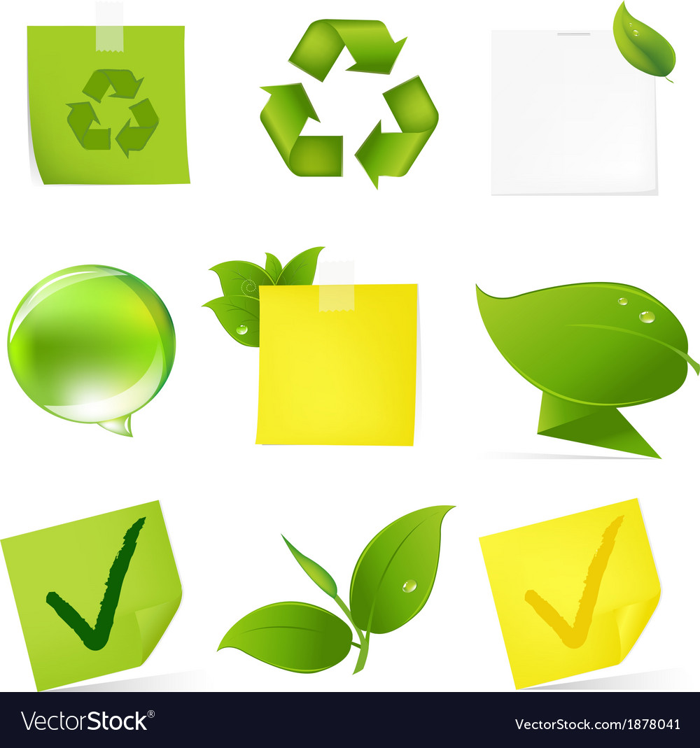 Eco blank note papers vector | Price: 1 Credit (USD $1)