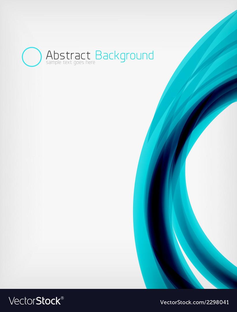 Elegant swirl shaped modern business template vector | Price: 1 Credit (USD $1)
