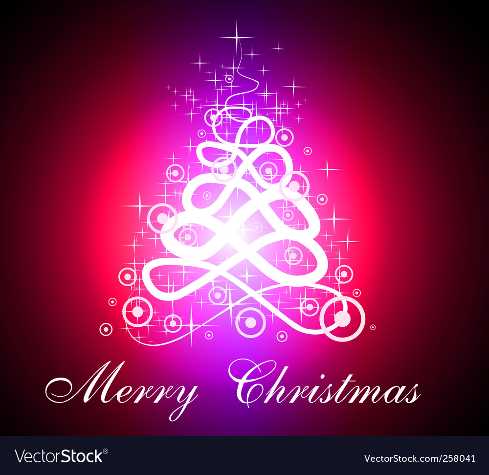 Fluorescent christmas tree vector | Price: 1 Credit (USD $1)