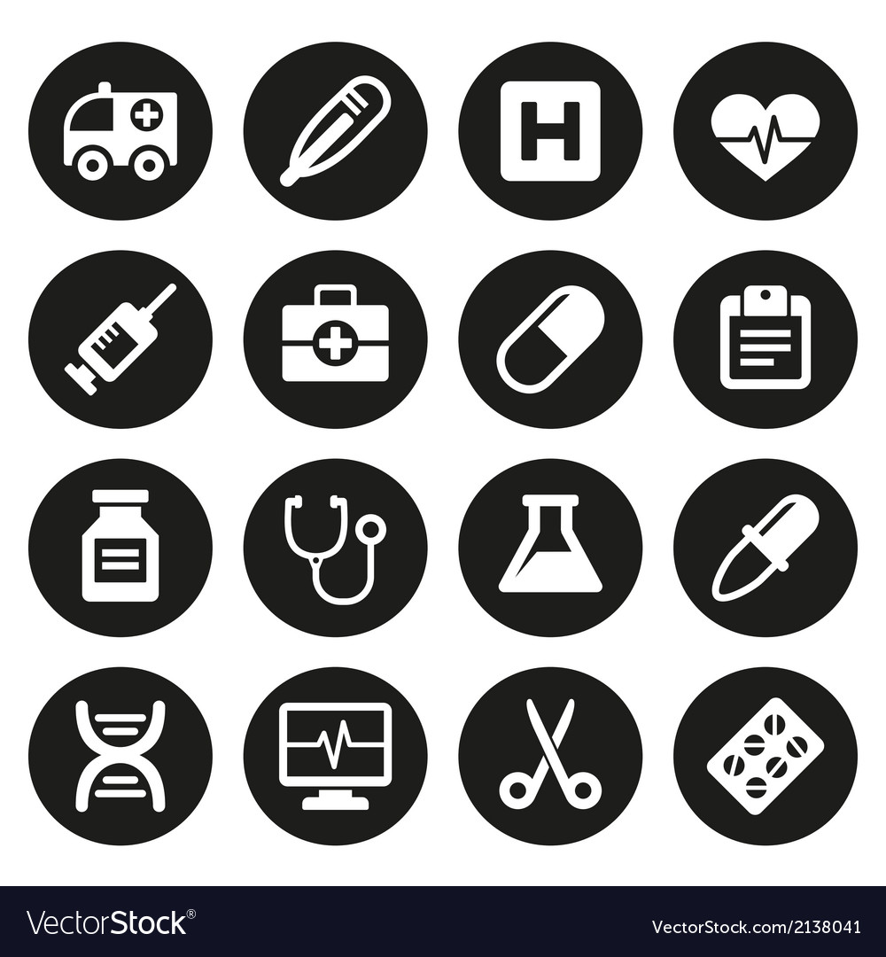 Medical icons set 1 vector | Price: 1 Credit (USD $1)