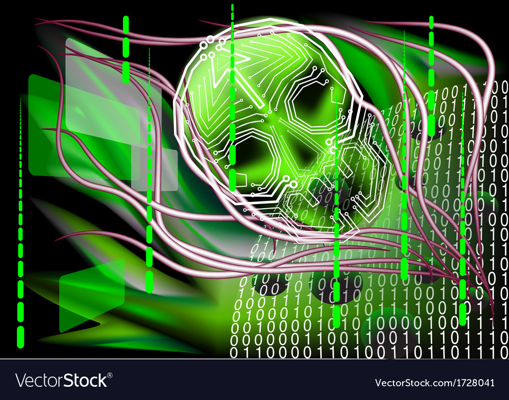 Scary technology vector | Price: 1 Credit (USD $1)