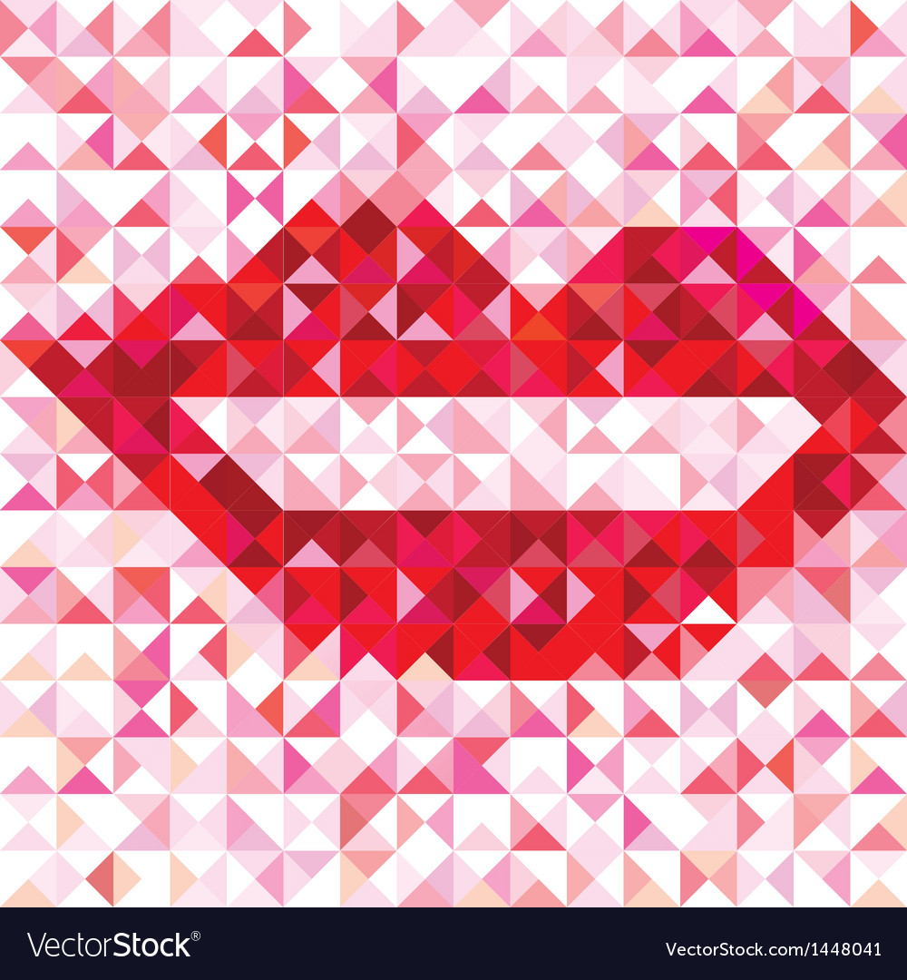Seamless lip love pattern vector | Price: 1 Credit (USD $1)