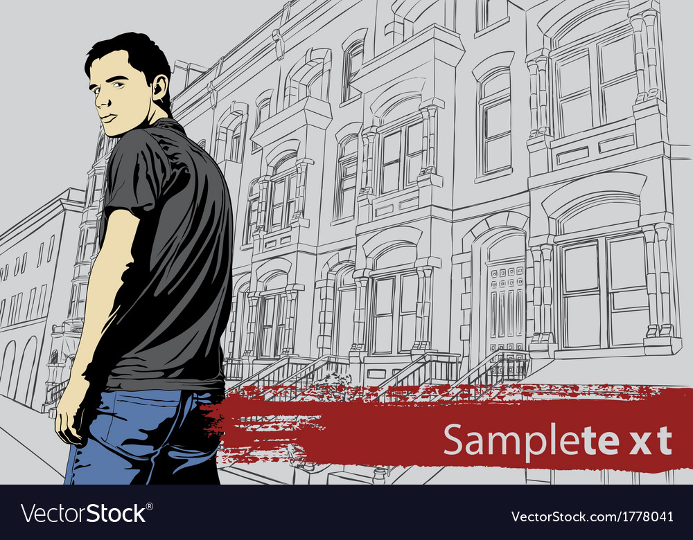 Stylish young guy vector | Price: 1 Credit (USD $1)