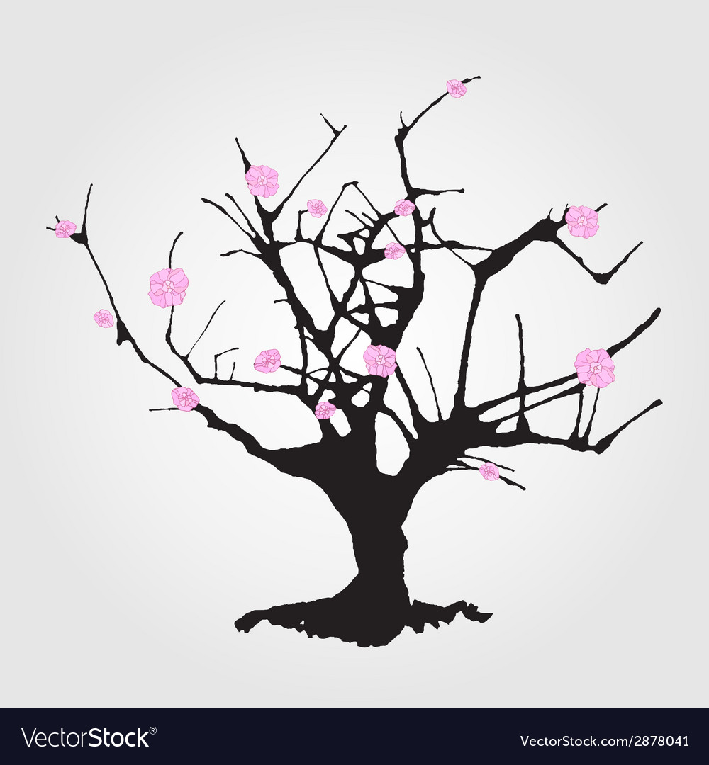 Tree in chinese style vector | Price: 1 Credit (USD $1)