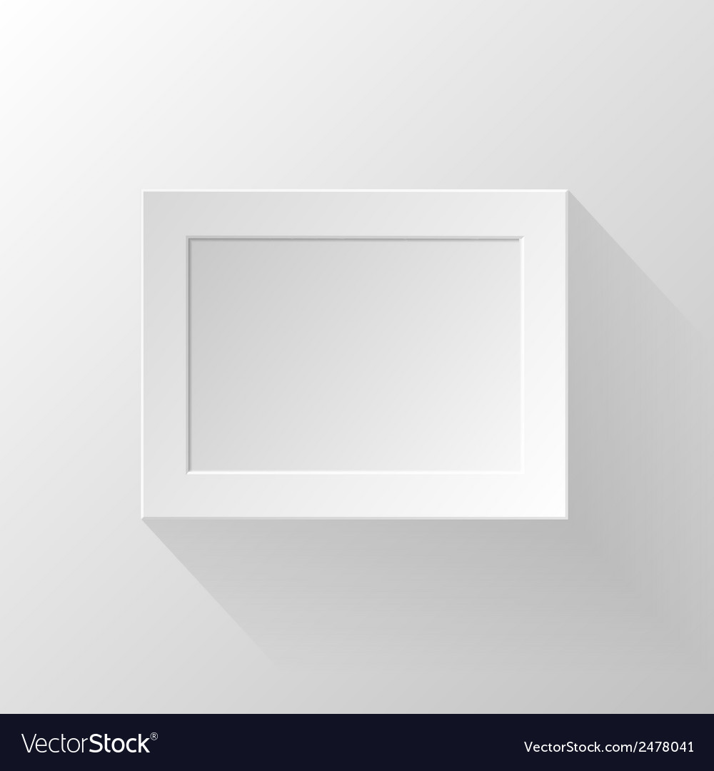 White paper frame vector | Price: 1 Credit (USD $1)