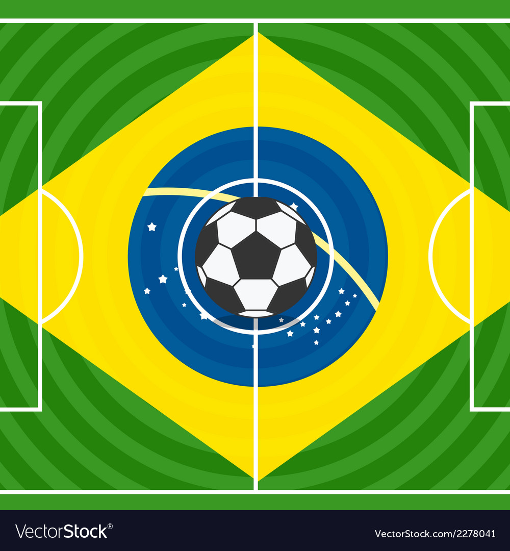 World soccer championship in brazil vector | Price: 1 Credit (USD $1)