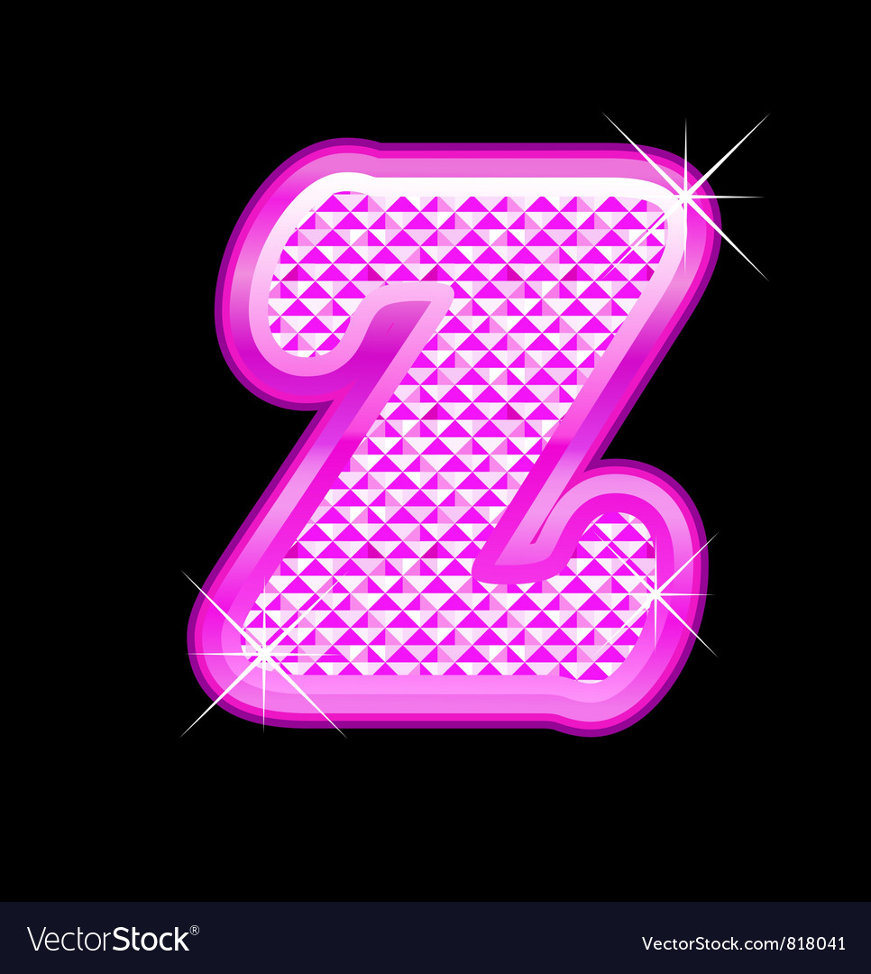 Z letter pink bling girly vector   Price: 1 Credit (USD $1)
