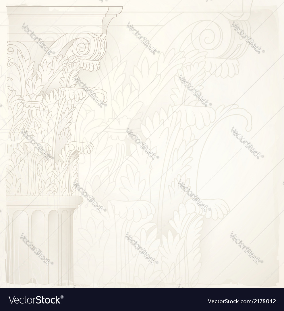 Architectural backgroundcorinthian capital vector | Price: 1 Credit (USD $1)