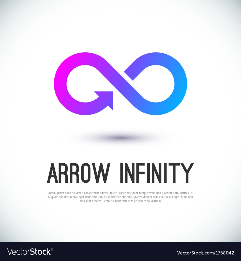 Arrow infinity business logo vector | Price: 1 Credit (USD $1)