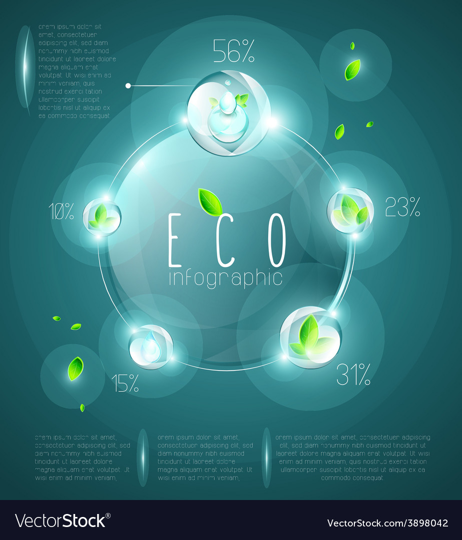 Eco infographic vector | Price: 3 Credit (USD $3)