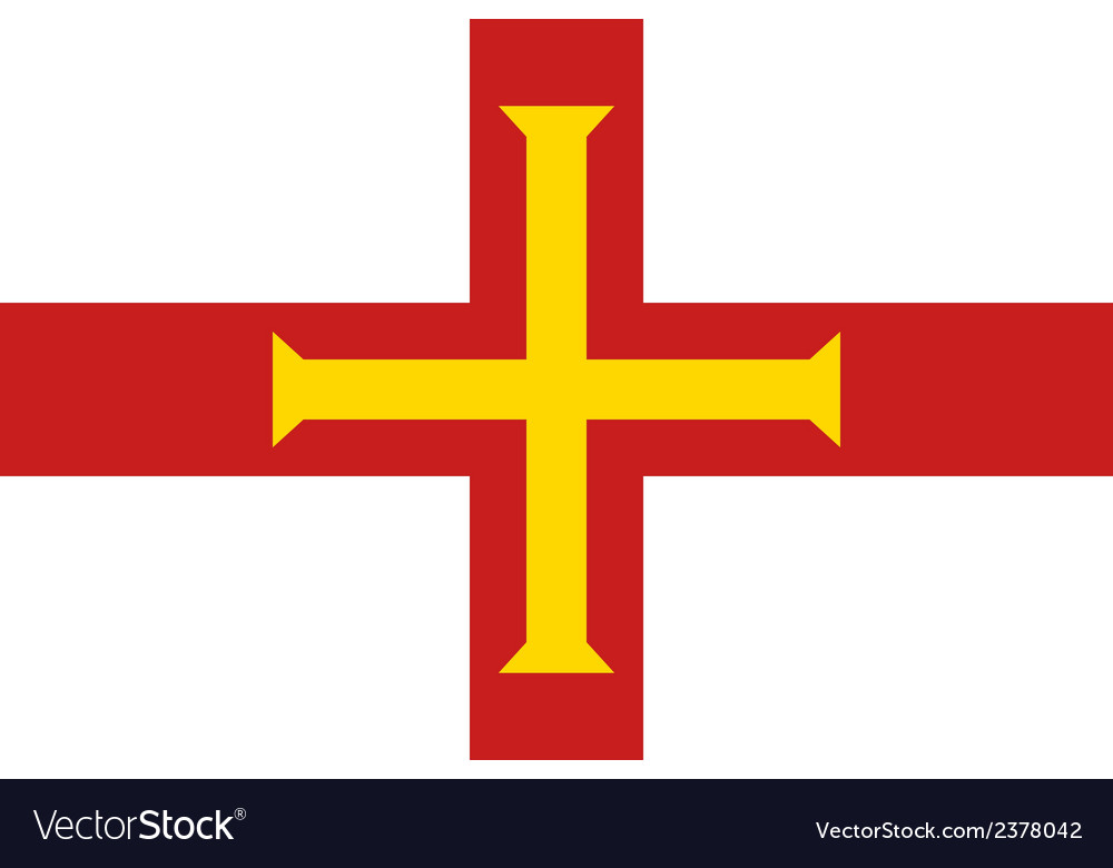 Flag of guernsey vector | Price: 1 Credit (USD $1)
