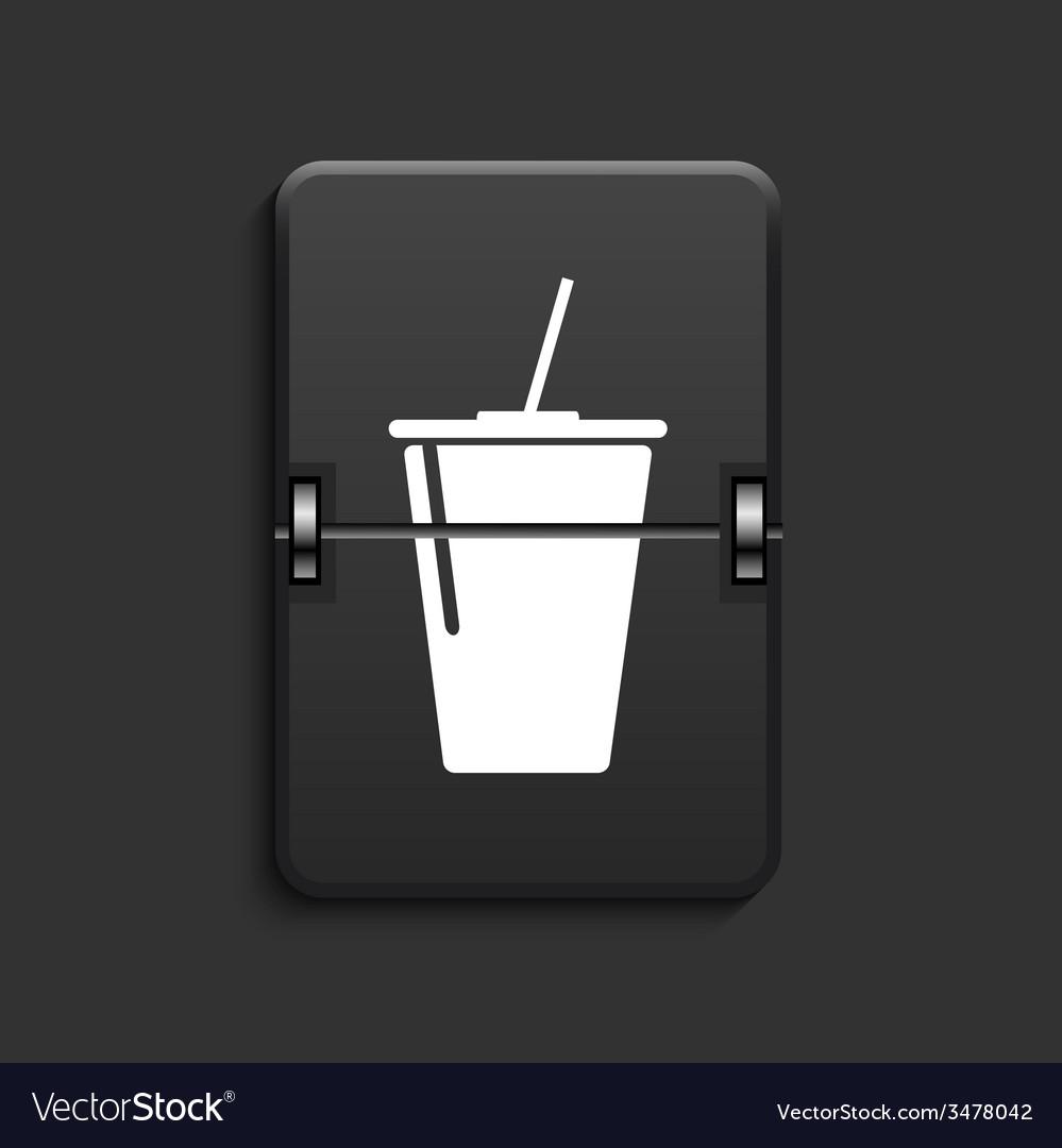 Modern scoreboard black icon vector | Price: 1 Credit (USD $1)