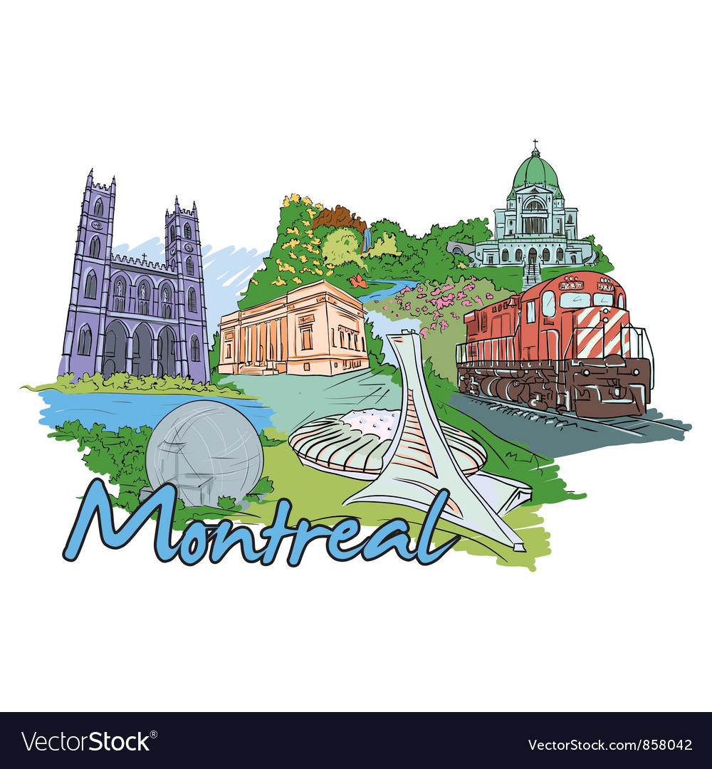 Montreal doodles vector | Price: 3 Credit (USD $3)