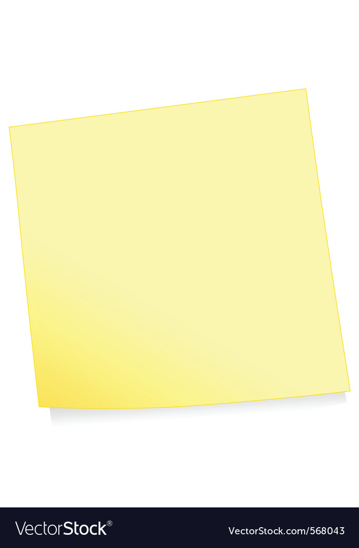 Adhesive note vector | Price: 1 Credit (USD $1)