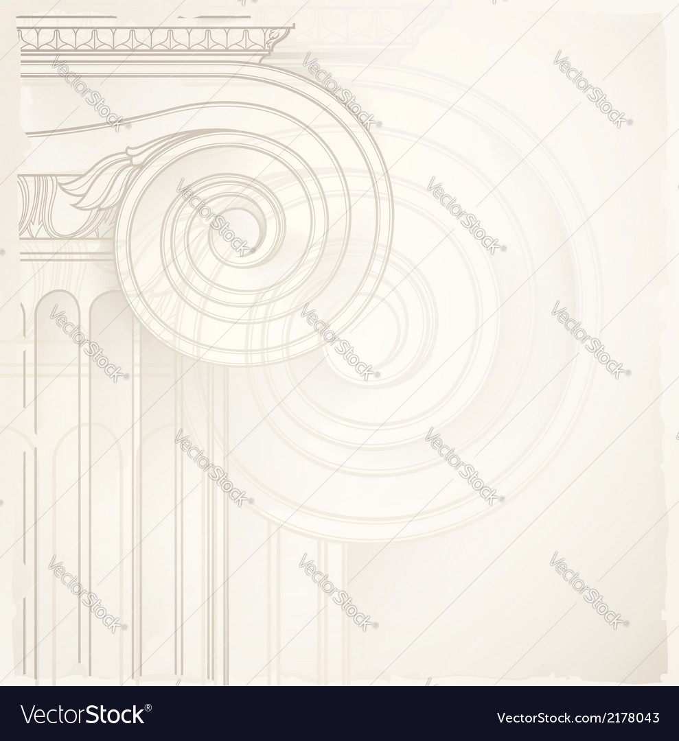 Architectural backgound  ionic capital vector | Price: 1 Credit (USD $1)
