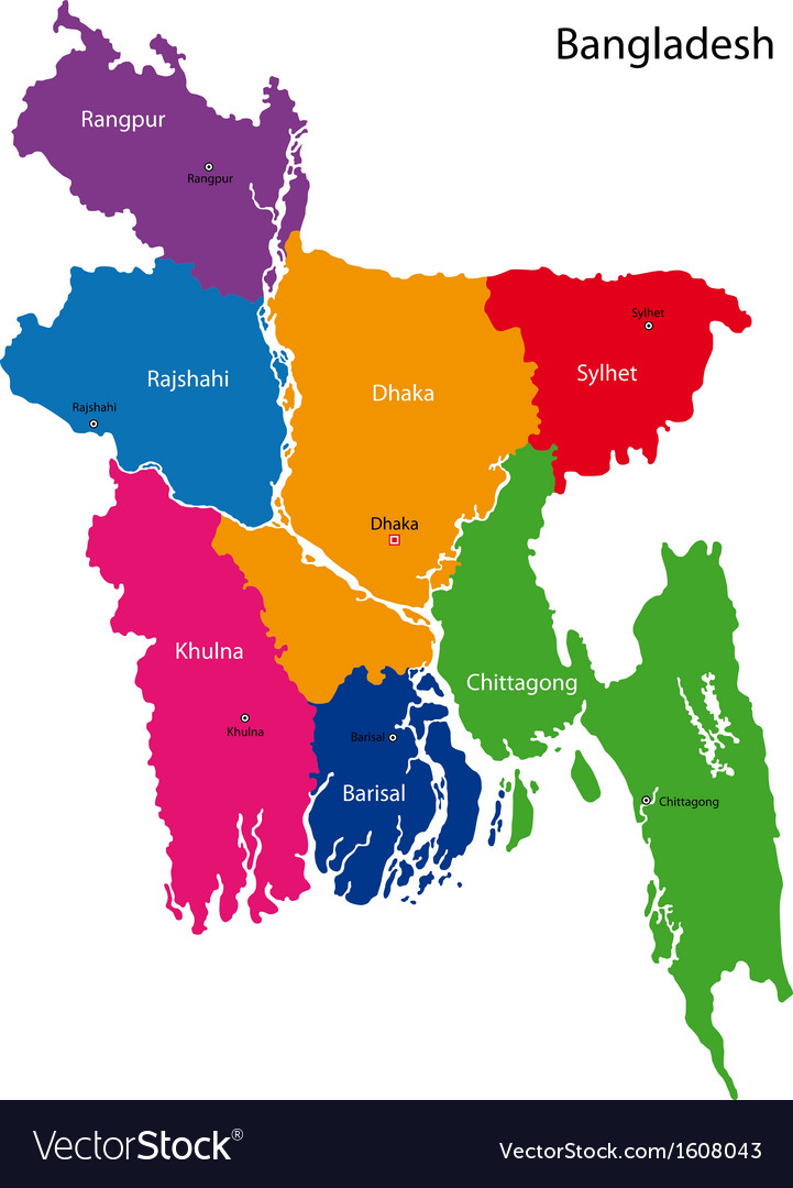 Bangladesh map vector | Price: 1 Credit (USD $1)