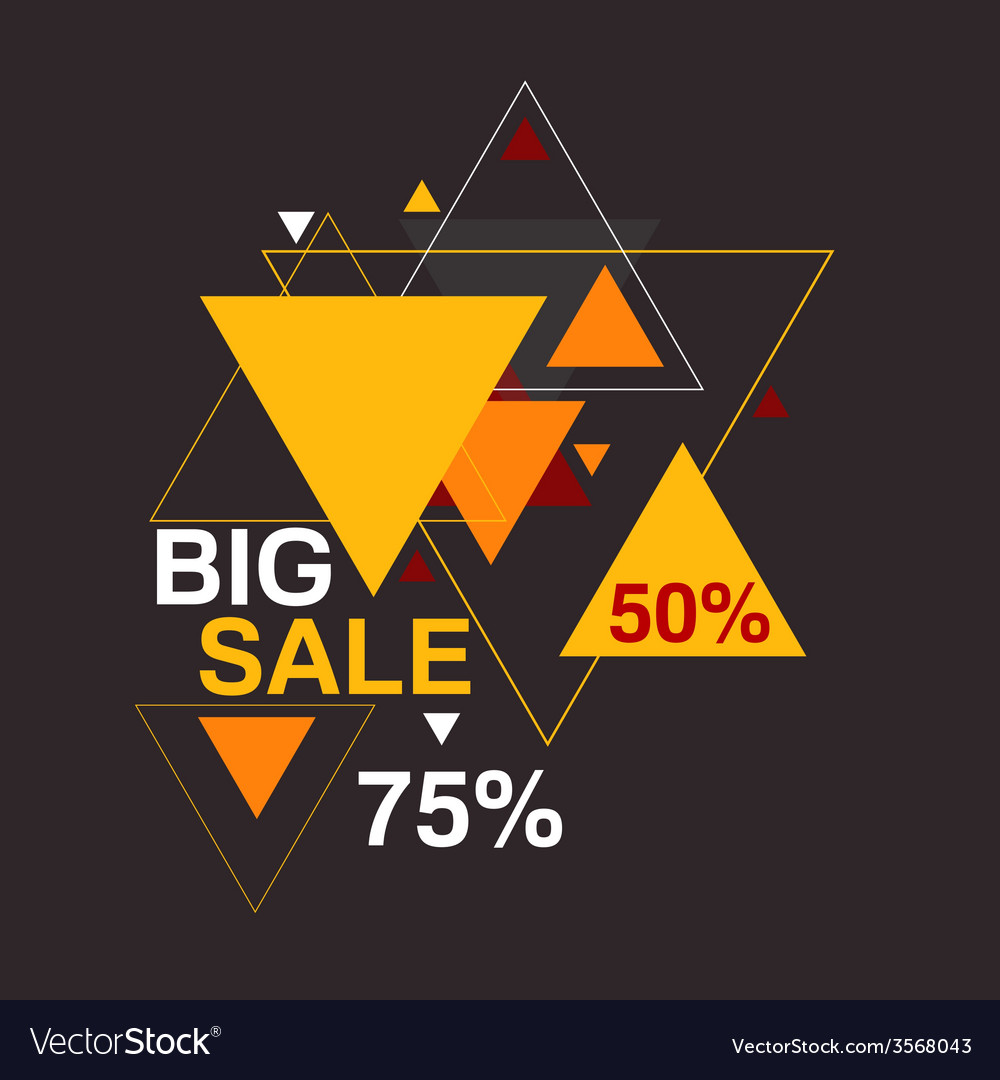 Big sale 50 75 percent vector | Price: 1 Credit (USD $1)