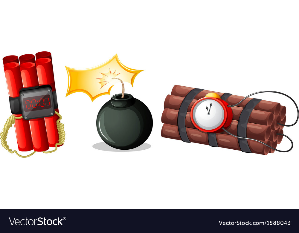 Explosive bombs vector | Price: 1 Credit (USD $1)
