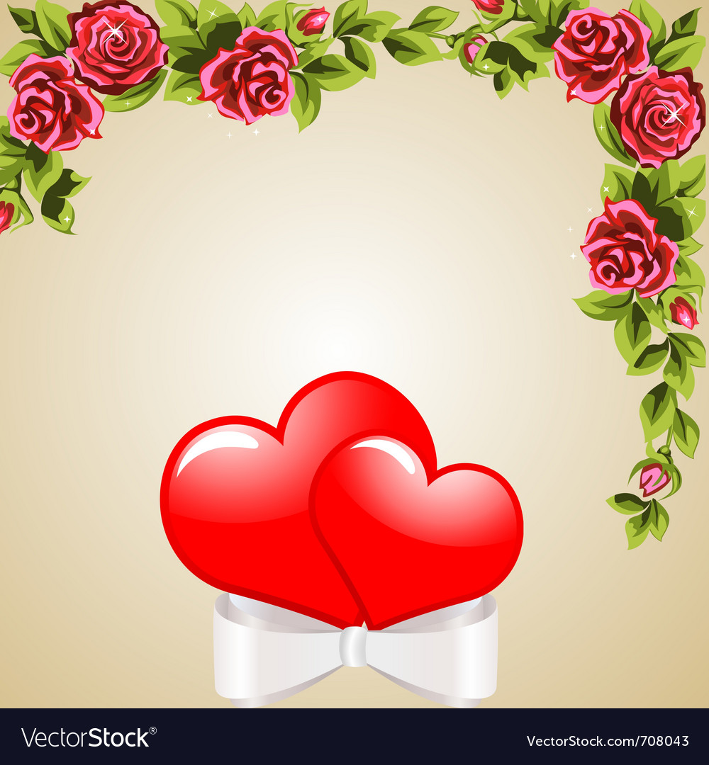 Heart background vector | Price: 3 Credit (USD $3)
