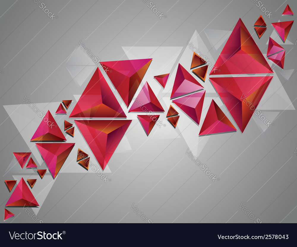 Red 3d triangles vector   Price: 1 Credit (USD $1)