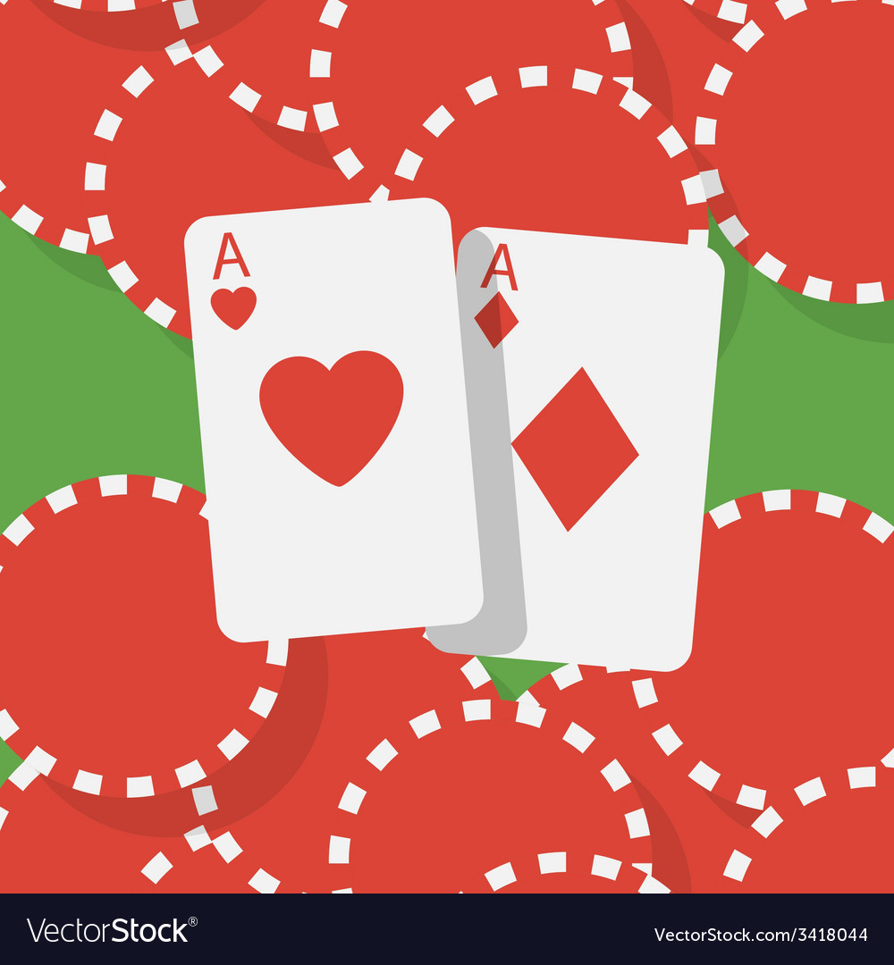 Aces and gambling chips vector | Price: 1 Credit (USD $1)