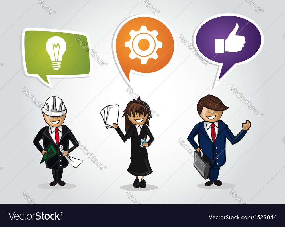 Business teamwork cartoon people vector | Price: 1 Credit (USD $1)