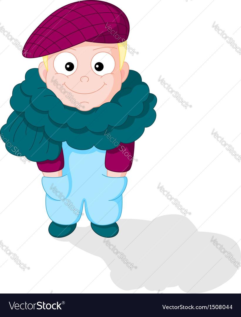 Cartoon smiling boy vector | Price: 1 Credit (USD $1)