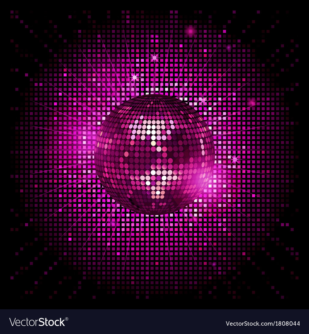 Disco ball pink party background ai vector | Price: 1 Credit (USD $1)