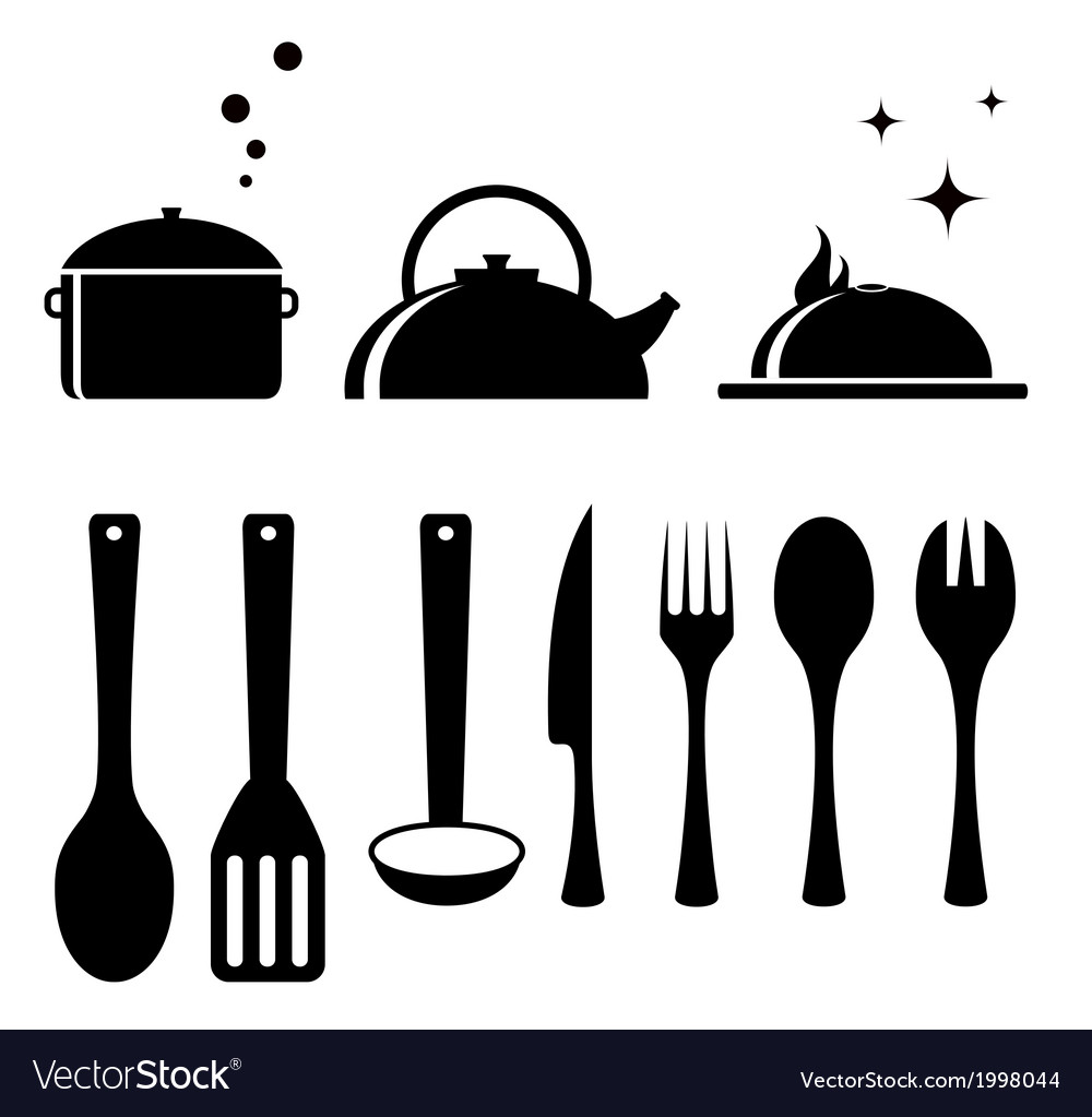 Set tools for kitchen vector | Price: 1 Credit (USD $1)
