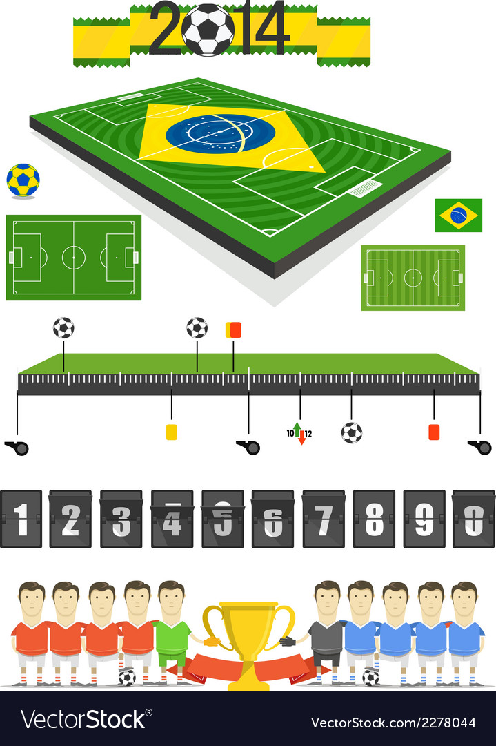 Soccer match infographic elements vector | Price: 1 Credit (USD $1)