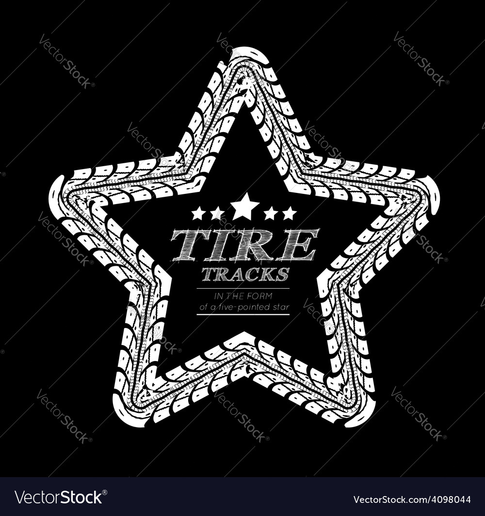 Tire tracks frame vector | Price: 1 Credit (USD $1)