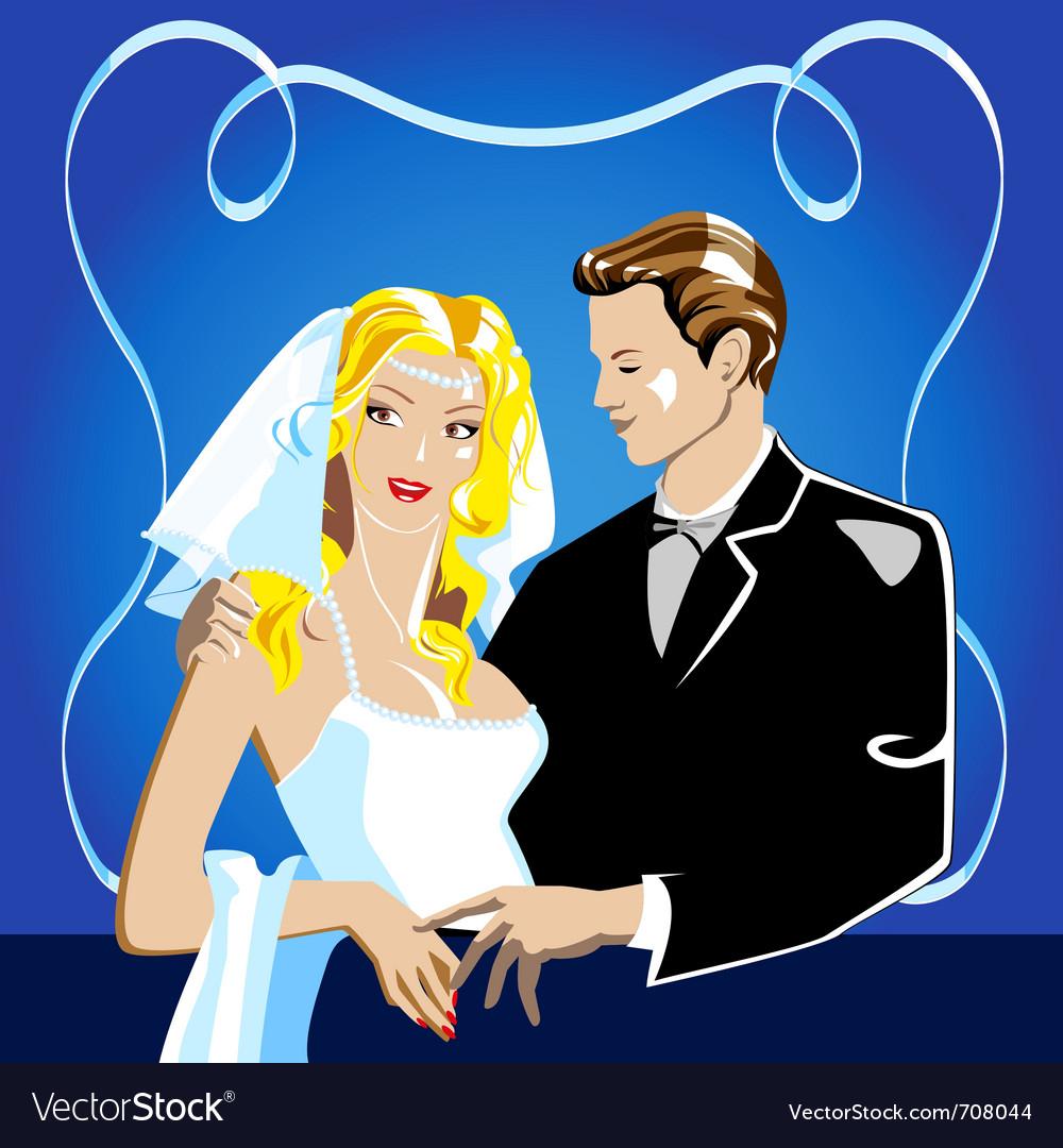 Wedding portrait vector | Price: 1 Credit (USD $1)