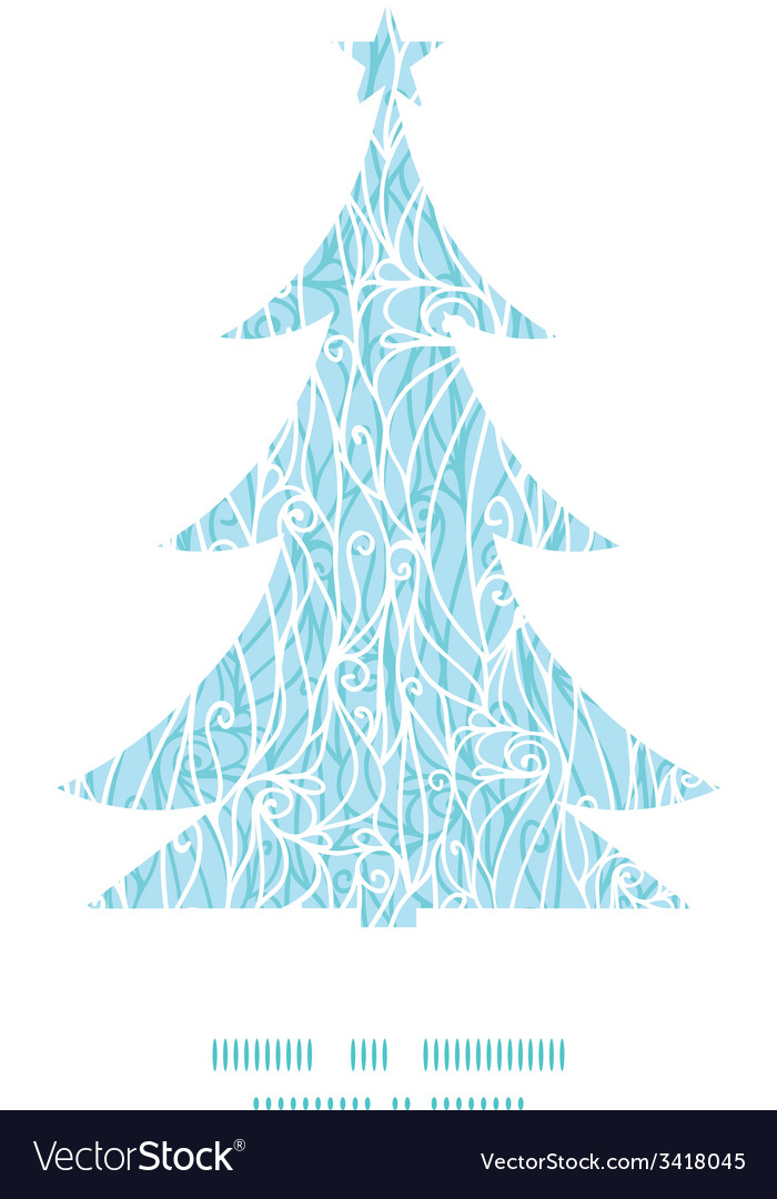 Abstract frost swirls texture christmas tree vector   Price: 1 Credit (USD $1)