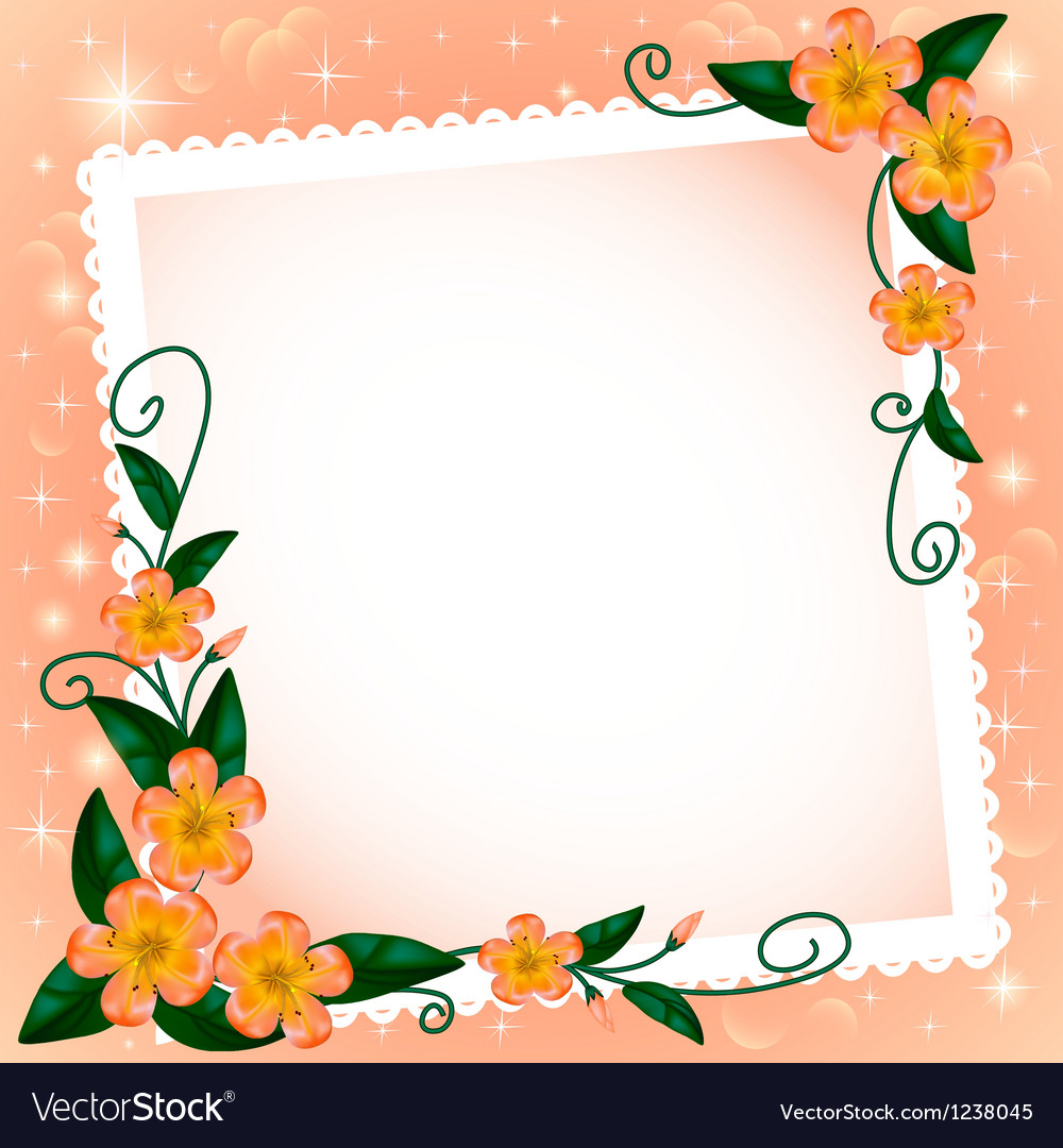 Background with flowers and paper vector | Price: 1 Credit (USD $1)