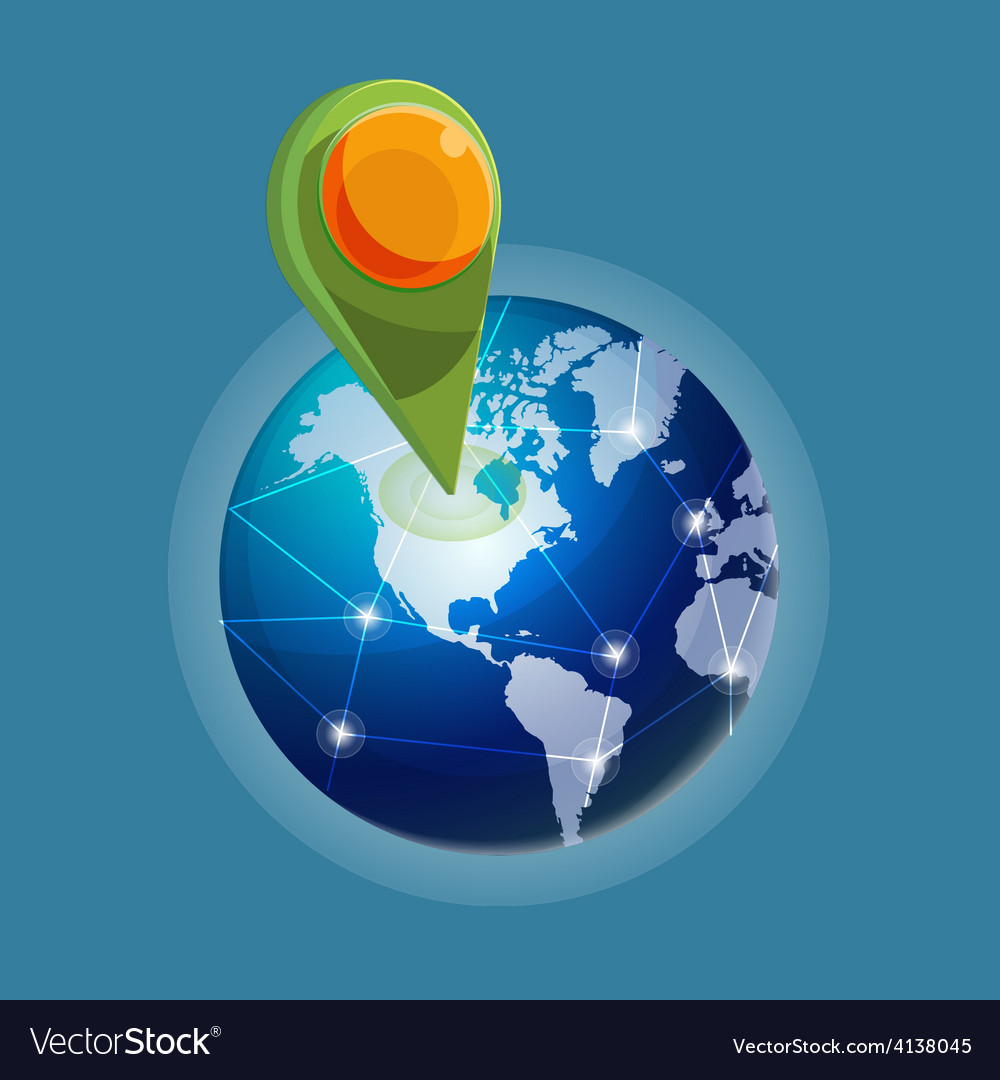 Check in global world navigator vector | Price: 1 Credit (USD $1)